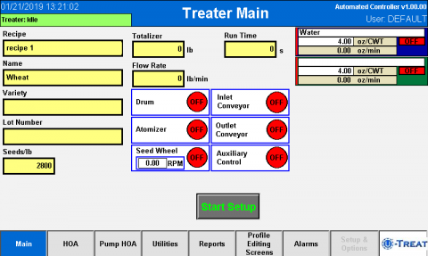 Screenshot of Automated Controller Upgrade Interface